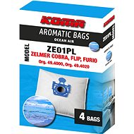 KOMA ZE01PL AROMATIC BAGS OCEAN AIR - Zelmer Cobra, Flip, Furio s plastovým čelem, 4ks - Sáčky do vysavače