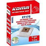 KOMA ET17S - Sada 25 ks sáčků do vysavače ETA Baggin 7468, Dualic - Sáčky do vysavače