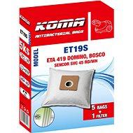 KOMA ET19S - Sada 25 ks sáčků do vysavače ETA Domino 1419, Bosco, Zoom - Sáčky do vysavače