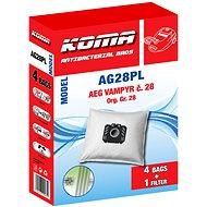 KOMA AG28PL - Sada 12ks sáčků do vysavače AEG Vampyr č.28 s plastovým čelem, textilní - Sáčky do vysavače