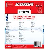 KOMA ET07S - Sada 12 ks sáčků do vysavače ETA Optimo 1406, Astro 1410, Aquill 1412 - Sáčky do vysavače