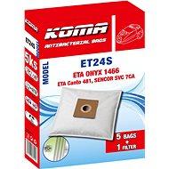 KOMA ET24S - Sáčky do vysavače ETA Onyx 1466, textilní, 5ks - Sáčky do vysavače