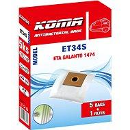 KOMA ET34S - Sáčky do vysavače ETA Galanto 1474, textilní, 5ks - Sáčky do vysavače