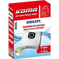 KOMA WB03PL - Sáčky do vysavače ROWENTA RO6441 Silence Force EXTREME, textilní, 4ks - Sáčky do vysavače