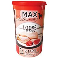 MAX deluxe 3/4  kuřete se svalovinou 1200 g, 4 ks - Konzerva pro psy