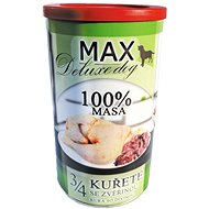 MAX deluxe 3/4 kuřete se zvěřinou 1200 g, 4 ks - Konzerva pro psy