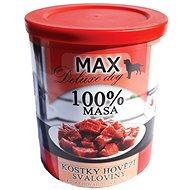 MAX deluxe kostky hovězí svaloviny 800 g, 4 ks - Konzerva pro psy