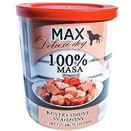 MAX deluxe kostky libové svaloviny 800 g, 4 ks - Konzerva pro psy