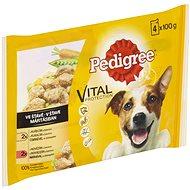 Pedigree kapsičky s kuřecím a hovězím se zelen. ve šťávě 4 × 100 g - Kapsička pro psy
