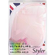 TANGLE TEEZER Compact Styler Smashed Holo Pink - Kartáč na vlasy
