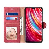 Lenuo Leather pro Xiaomi Redmi Note 8 Pro, červená - Pouzdro na mobil