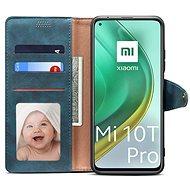 Lenuo Leather pro Xiaomi Mi 10T/10T Pro, modré - Pouzdro na mobil