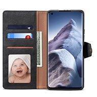 Lenuo Leather flipové pouzdro pro Xiaomi Mi 11 Ultra, černé - Pouzdro na mobil