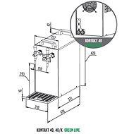 LINDR KONTAKT 40/K Green Line, bajonet, plochý - Výčepní zařízení