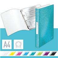 Leitz WOW A4 čtyřkroužkové ledově modré - Kroužkové desky