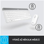 Logitech Slim Wireless Combo MK470, bílá - US - Set klávesnice a myši