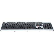 C-TECH KB-102 USB slim, stříbrno-černá - CZ/SK - Klávesnice