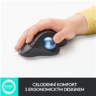 Logitech ERGO M575, graphite - Trackball