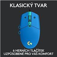 Logitech G203 LIGHTSYNC, Blue - Herní myš