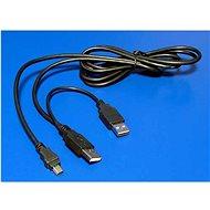 OEM 2x USB A->MINI 5-pin, se zdvojeným napájením, 0.6m - Datový kabel