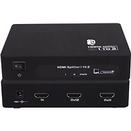 PremiumCord externí HDMI Splitter, 2x port HDMI 1.4 černý - Rozbočovač