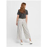 ONLY Krémové pruhované culottes Bianca L 40/32 - Kalhoty