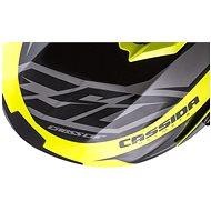 CASSIDA Cross Cup Two Kids, (žlutá fluo/černá/šedá, vel. S) - Helma na motorku