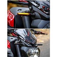 M-Style Flow carbon LED blinkr na motocykl – sekvenční - Blinkry na motorku