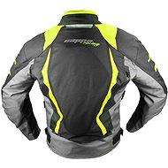 Cappa Racing AREZZO textilní černá/zelená XL - Bunda na motorku