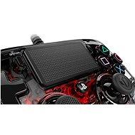 Nacon Wired Compact Controller PS4 - průhledný červený - Gamepad