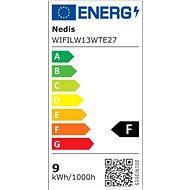 NEDIS Wi-Fi chytrá LED žárovka E27 WIFILW13WTE27 - Žárovka