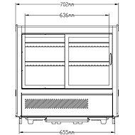 NORDline RTW 120 L-5 - Chladící vitrína