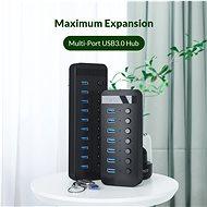 Orico USB-A Hub 10x USB 3.0 White - USB Hub