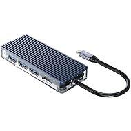 Orico USB-C Hub 7 in 1 Transparent, SD/TF reader, Power Delievery - Replikátor portů