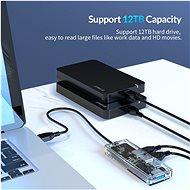 Orico USB-A Hub 4xUSB 3.0 Transparent thin - USB Hub