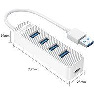 ORICO TWU3 1m bílý - USB Hub