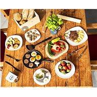Steak set nůž+vidlička nerez/dřevo  - Sada příborů