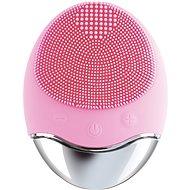 Palsar7 Silikonový kartáček na čištění pleti s podložkou, světle růžový - Kosmetický přístroj