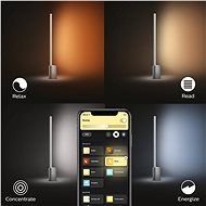 Philips Hue White and Color Ambiance Signe 40801/48/P9 - Stolní lampa