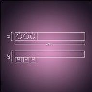 Philips Hue White and Color Ambiance Centris 3L Ceiling Bílá 50609/31/P7 - Stropní světlo