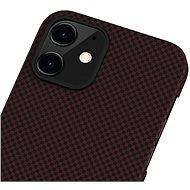 Pitaka MagEZ Black/Red Plain iPhone 12 - Kryt na mobil