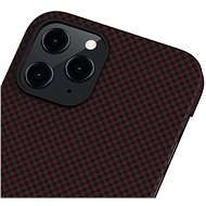 Pitaka MagEZ Black/Red Plain iPhone 12 Pro Max - Kryt na mobil