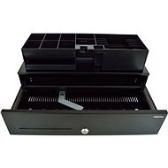 Virtuos SK-500C černá s kabelem 24V - Pokladní zásuvka