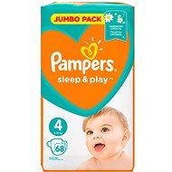 PAMPERS Sleep&Play Maxi vel. 4 (68 ks) - Jumbo Pack - Dětské pleny