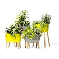 Plastia nízká pěstební nádoba Urbalive, sv. zelená - Květináč