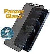 PanzerGlass Edge-to-Edge Privacy Antibacterial pro Apple iPhone 12 Pro Max černé se Swarowski CamSli - Ochranné sklo