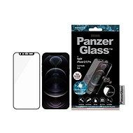 PanzerGlass Edge-to-Edge Antibacterial pro Apple iPhone 12/12 Pro s růžovým Swarovski CamSlider - Ochranné sklo