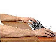 Podložka ergonomická ke klávesnici a myši, velikost 3, hnědá - Kompletní podpěra zápěstí