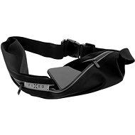 FIXED Sportbelt Duo se dvěmi kapsami černý - Pouzdro na mobil