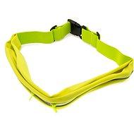 FIXED Sportbelt Duo se dvěmi kapsami limetkový - Pouzdro na mobil